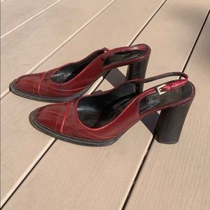 Vintage Prada Slingback Heels